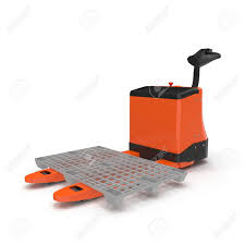 100 Walkie Pallet Truck Electric Jack Isolated On White Background 3D