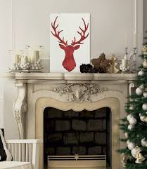 Learn How To Make DIY Rustic Christmas Art Using The Deer Head Stencil From Cutting Edge