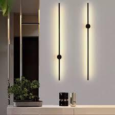 60cm 9w 100cm 20w moderne wohnzimmer schlafzimmer zimmer linie wand licht hintergrundbeleuchtung kreative korridor led lange wand rohr le