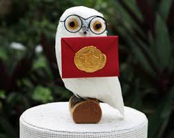 Hedwig Cake Topper And Ornament Snowy Owl For A Harry Potter