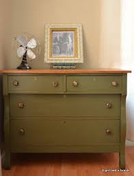 Antique Dresser In Olive By Annie Sloan Chalk Paint Distressed
