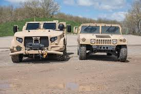 How The Humvee Compares To The New Oshkosh JLTV - Motor Trend Okosh Cporation 1996 S2146 Ready Mix Truck Item Db8618 Sold Oct Still Working Plow Truck 1982 Youtube Family Of Medium Tactical Vehicles Wikipedia Trucking Trucks Pinterest And Classic Support Cporations Headquarters Project Greater 1917 The Dawn The Legacy Stinger Q4 Airport Fire Arff Products