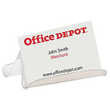 fice Depot Brand Business Card Holder Clear by fice Depot