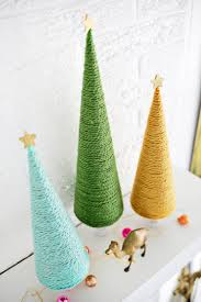 Pine Cone Christmas Tree Tutorial by Yarn Christmas Tree Diy U2013 A Beautiful Mess