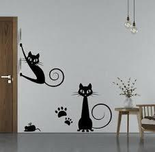 wandtattoo wohnzimmer schlafzimmer wandtatoo katzen kätzchen