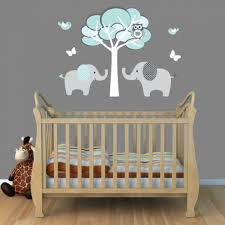interior creative baby nursery room decoration using light grey