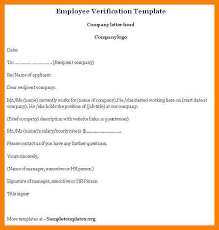 Awesome Collection Sample Business Letter Employment Verification