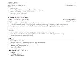 Resume Template Limited Work Experience With No Sample For High School Student