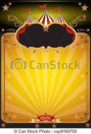 Magic Orange Circus Poster Vector