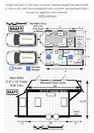 100 Tiny Home Plans Trailer House On Wheels Floor Plans 1st And 2nd Floor In 2019
