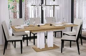 endo moebel esstisch 130cm 210cm erweiterbar ausziehbar säulentisch küchentisch wotan eiche