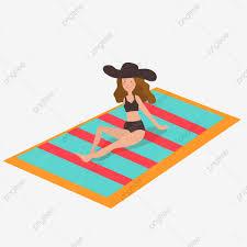 Diseño Del Ejemplo De La Muchacha Las Vacaciones Playa
