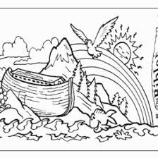 Noah And The Ark Rainbow Coloring Pages Kids Page From