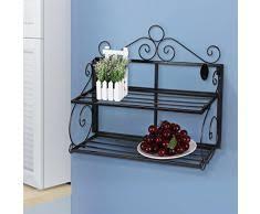étagère en fer forgé pour cuisine etagere murale style cagne best etagres rangement duetagres