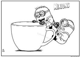 Jerry Stuart And The Minion Coloring Page