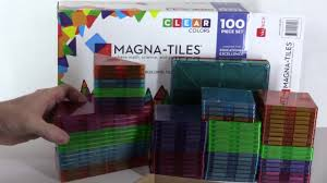 magna tiles clear colors 100 piece set unboxing review youtube