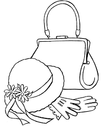 Purses To Color And Print