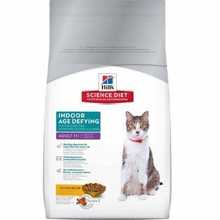 Hill's Science Diet Indoor Age Defying Dry Cat Food - Chicken, Adult 11+, 7lb