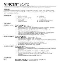 Sample Resume Hospitality Housekeeping Aide