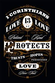 Lovely Ornamental Typographic Poster 1st Corinthians 134 7 Art Print By