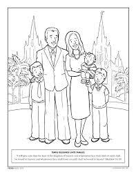 Colouring Pages For My Family Can Be Together Forever Nursery Manual Lesson