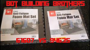 harbor freight foam floor tile comparison 61607 vs 94635