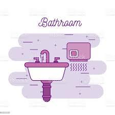 badezimmer waschbecken und trockner ausrüstung stock vektor und mehr bilder ausrüstung und geräte