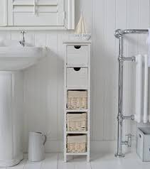 Narrow Bath Floor Cabinet by Tall Narrow 20 Cm Bathroom Freestanding Cabinet With Baskets And