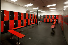 interior cool locker room with and black theme combine