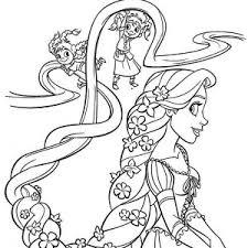 Strikingly Design Coloring Pages Rapunzel Colouring Disney Princess Page Kids Play Color Inside
