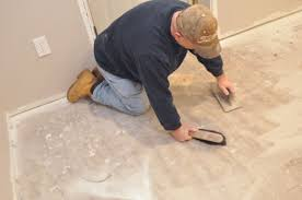 Preparing Osb Subfloor For Tile by How To Level A Subfloor Before Laying Tile One Project Closer