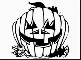 Remarkable Scary Halloween Pumpkins Coloring Pages With Pumpkin And