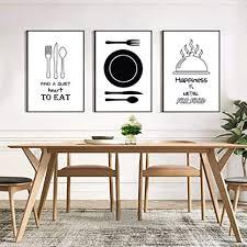 woplmh minimalistische geschirr küche leinwand malerei