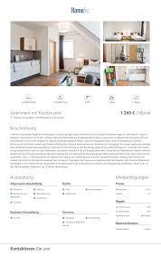 ausstattung apartment mit küchenzeile 1 260 monat