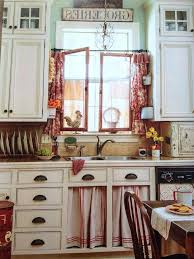 red and white country kitchen curtains ideas dining table the
