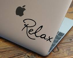 RELAX Laptop Decal Macbook Vinyl Removable Wallpaper Bumper Sticker Ipad