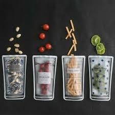 details zu 4x beutel aufbewahrung snacks früchten küche haushalt zipbeutel einfrieren