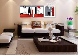 Black Red White Abstract Art 3 Panel Canvas Flower Wall High Quality Decoration Home Halloween Mural Patterns D In Painting Calligraphy From
