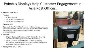 Post fice Chose Poindus Displays to Engage Customer