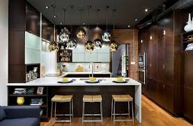 Modern Kitchen Design Ideas Fabulous Use Of Gold And Silver Lighting Fixtures