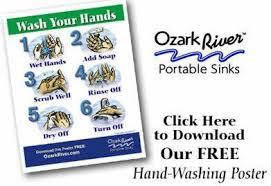free hand washing poster ozark river portable sinks