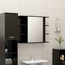 bad spiegelschrank badezimmer spiegel mit regal spanplatte