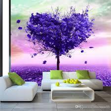 großhandel 3d tapeten moderne abstrakte kunst lila baum fototapete wohnzimmer schlafzimmer innendekor natur tapete papel de parede 3d maomao55