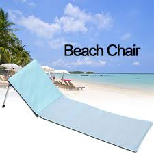 US $43.36 31% OFF Portable Folding Beach Chairs Foldable Deck Chair  Aluminum Single Recliner Sofa With Cushion Chaise Lounge Outdoor  Furniture-in ...