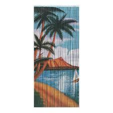 shop bamboo 54 palm beach serenity 80 in bamboo semi sheer single