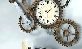 Wall Arts Moving Art Large Gear Clock Clocks Awesome To Do