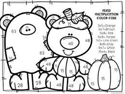 Halloween Multiplication Worksheets Coloring by Halloween Mixed Multiplication Color By Number By Createdbymarloj