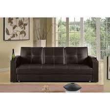 bar canapé canape lit bar avec tiroir marron chocolat achat vente canapé