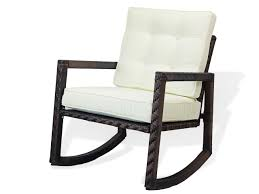 Patio Resin Rocking Chair With Cushion