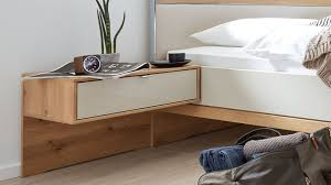 interliving schlafzimmer serie 1017 hängekonsolen set 618 bianco eichefarbene chagnerfarbene oberflächen zweitei